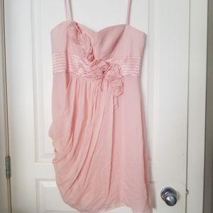Pink Flower Pastel Pink Dress